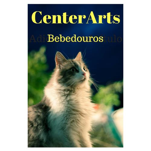 CenterArts Bebedouros em Cerâmica tipo fonte p/cães e gatos com filtro, fontes de saúde p/seu gato