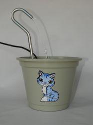 Bebedouro Fonte P/gato/cães, Polipropileno, tampa rebaixada, 1,5 Lt + BRINDE