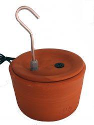 Bebedouro Fonte p/gatos VIP 4,0 litros cerâmica c/filtro + carvão ativado, patinhas + 2 BRINDES, CenterArts - Base grande