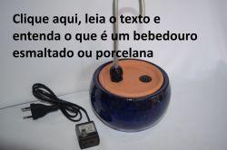 Bebedouro Esmaltado Fonte p/Gatos Requinte Azul - 2 litros c/bomba e filtro