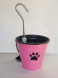 Bebedouro Fonte p/gatos em alumínio CenterArts 1,5 lts + BRINDE